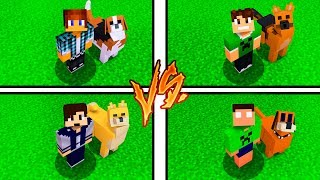 CACHORRO DOS YOUTUBERS NO MINECRAFT !!