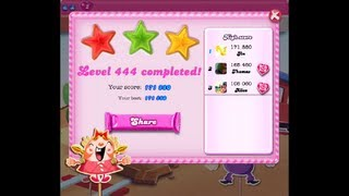 Candy Crush Saga Level 444 ★★★ NO BOOSTER