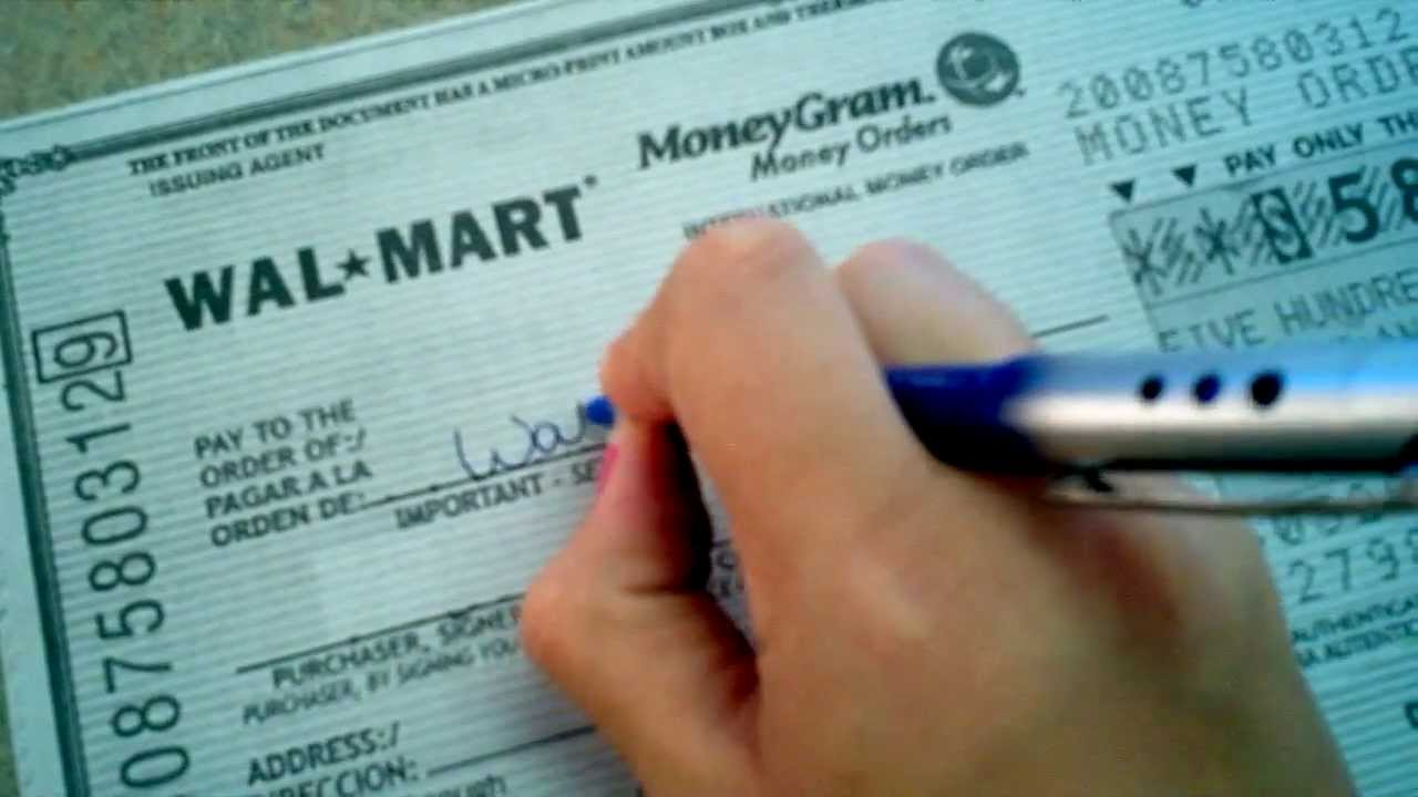 How to fill out a money order - YouTube