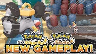 POKEMON LET'S GO PIKACHU & LET'S GO EEVEE NEW GAMEPLAY! MELMETAL, RARE POKEMON & THE POWER PLANT!