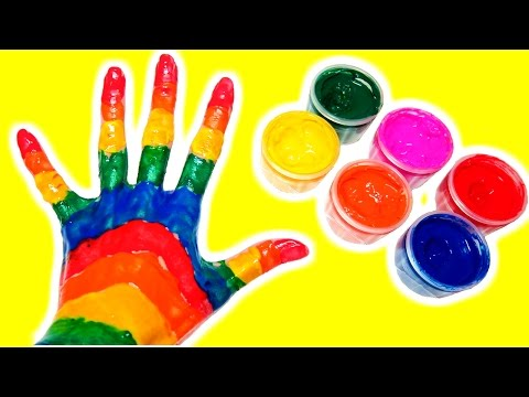 Thumbnail: Finger Family Nursery Rhyme Body Painting Rainbow Learning Colors Finger Family Kids Nursery Rhymes