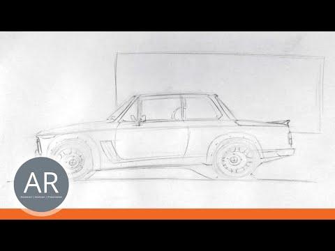 Autos zeichnen ganz einfach erklärt (1/2). Zeichnen lernen. Mappenkurs Transportationdesign.