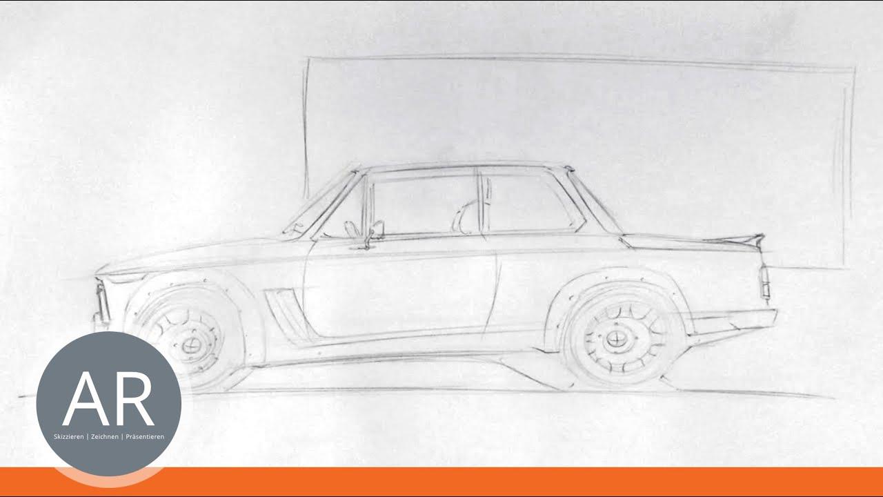 Autos zeichnen ganz einfach erklärt (1/2). Zeichnen lernen ...