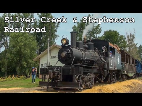 Geared Heisler Steam Locomotive on the Silver Creek & Stephenson Railroad