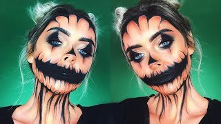 Glam JACK O' LANTERN Halloween Makeup Look