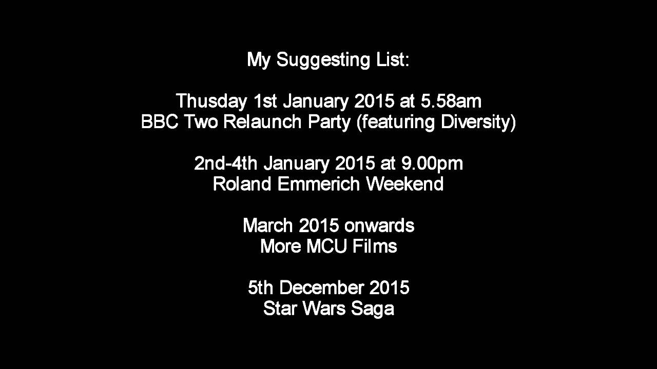 My Official Suggesting Schedule List of BBC Two