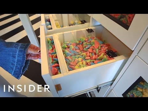 Candy Store Has 160 Drawers Of Bulk Candy