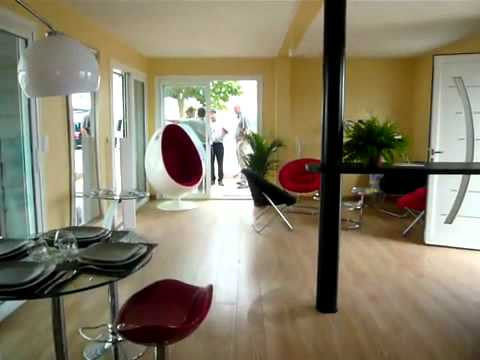 Maison container 2x 40ft youtube - Maison container ...
