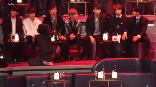 161202 2016 MAMA - GOT7(갓세븐) reaction to BTS's stage