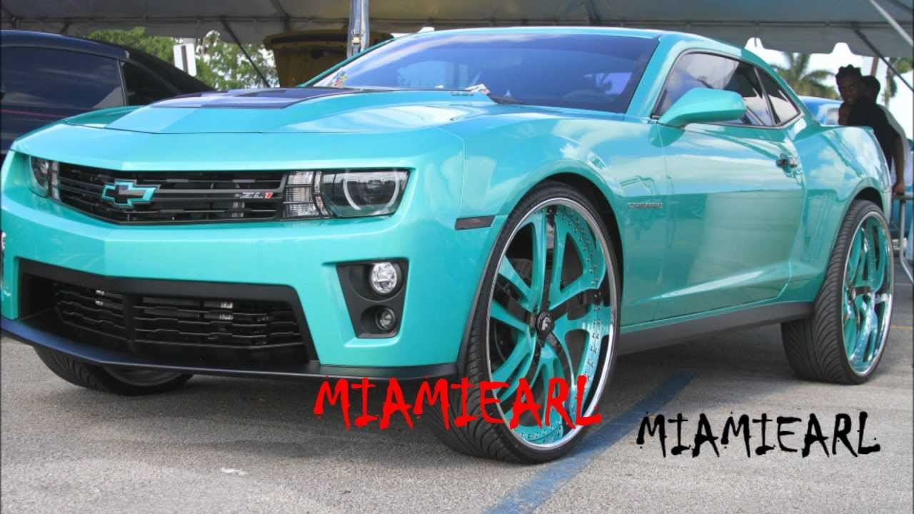 "Outrageous Paint chevy camaro zl1 on 28"" forgiato rasoio- outrageous paint- 99 jamz"