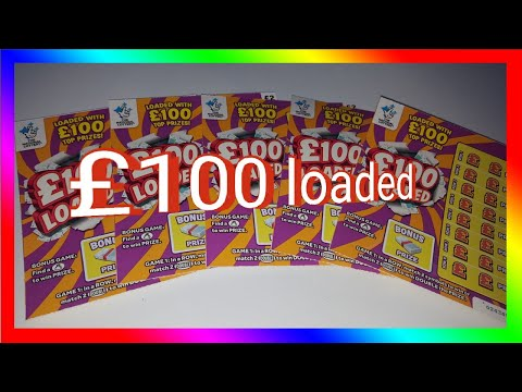 5x100 Loaded Scratch Cards NATIONAL LOTTERY UK ❤