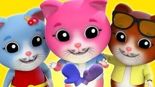 Video Three Little Kittens   Baby songs   Kids Rhymes by Farmees download MP3, 3GP, MP4, WEBM, AVI, FLV Maret 2018