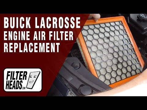 How to Replace Engine Air Filter 2011 Buick LaCrosse V6 3.6L