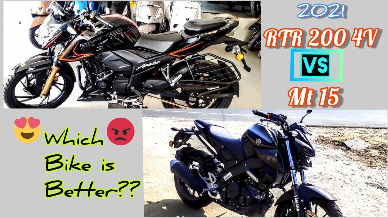 Download TVS Apache RTR 200 4V Bs6 VS Yamaha MT 15 Bs6 | Comparison | Review | 2021 | @100bhagya Tanwar