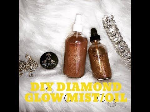 FENTY BODY LAVA DUPE | DIY Diamond Glow mist and Oil |  SUMMER GLOW GOALS