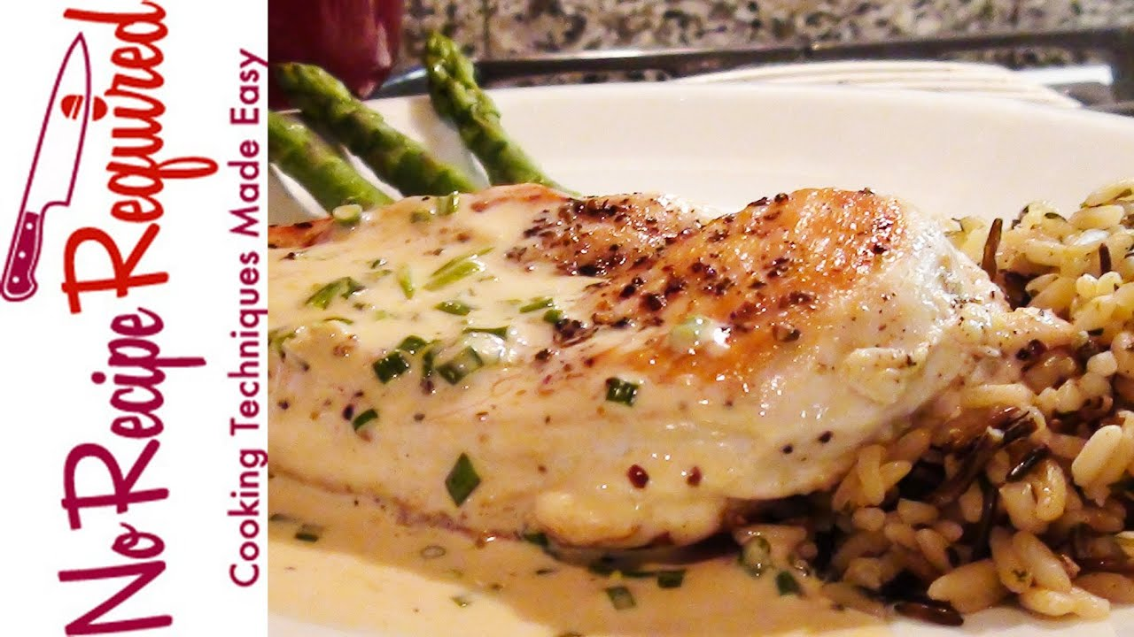 Chicken Breast With Mustard Cream Sauce Noreciperequired Com Youtube