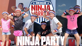 AMERICAN NINJA WARRIOR THEMED BOYS BIRTHDAY PARTY | PARKOUR PARTY FOR 10TH BIRTHDAY