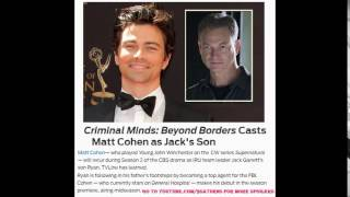 GH MATT COHEN's CASTING NEWS Griffin Criminal Minds Jack Ryan General Hospital Promo Preview 8-29-16