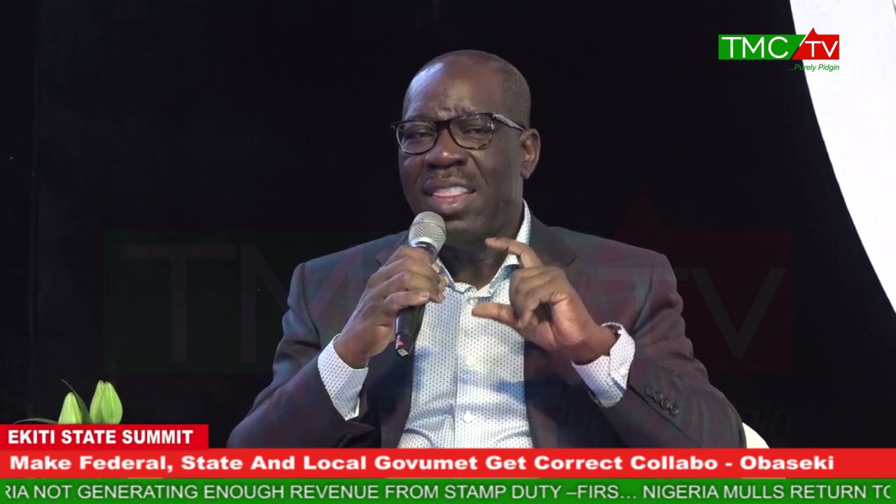 Download Make Federal, State And Local Govumet Get Correct Collabo  For Ogbonge Deve For Di Kontri - Obaseki