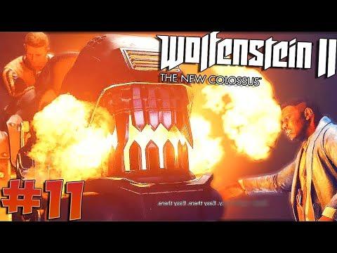 Wolfenstein 2: The Most Intense Cutscene I've Ever Seen & STILTS ARE OP - Chapter 11