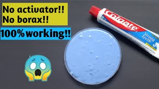 How to make slime with colgate toothpaste Diy toothpaste slime no glue Diy colgate toothpaste slime