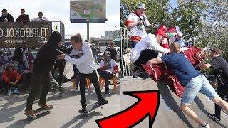 Wdałem się w bójkę na skateparku! (dużo bólu)