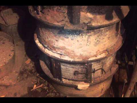 уникальная печь для бани из колёсных дисков