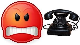 wütender Kunde konfrontiert Telefon Lotto Abzocke