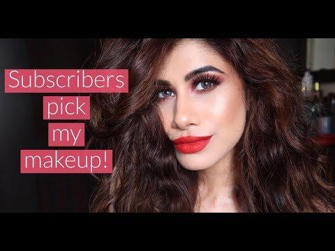 My SUBSCRIBERS pick my makeup! | Malvika Sitlani