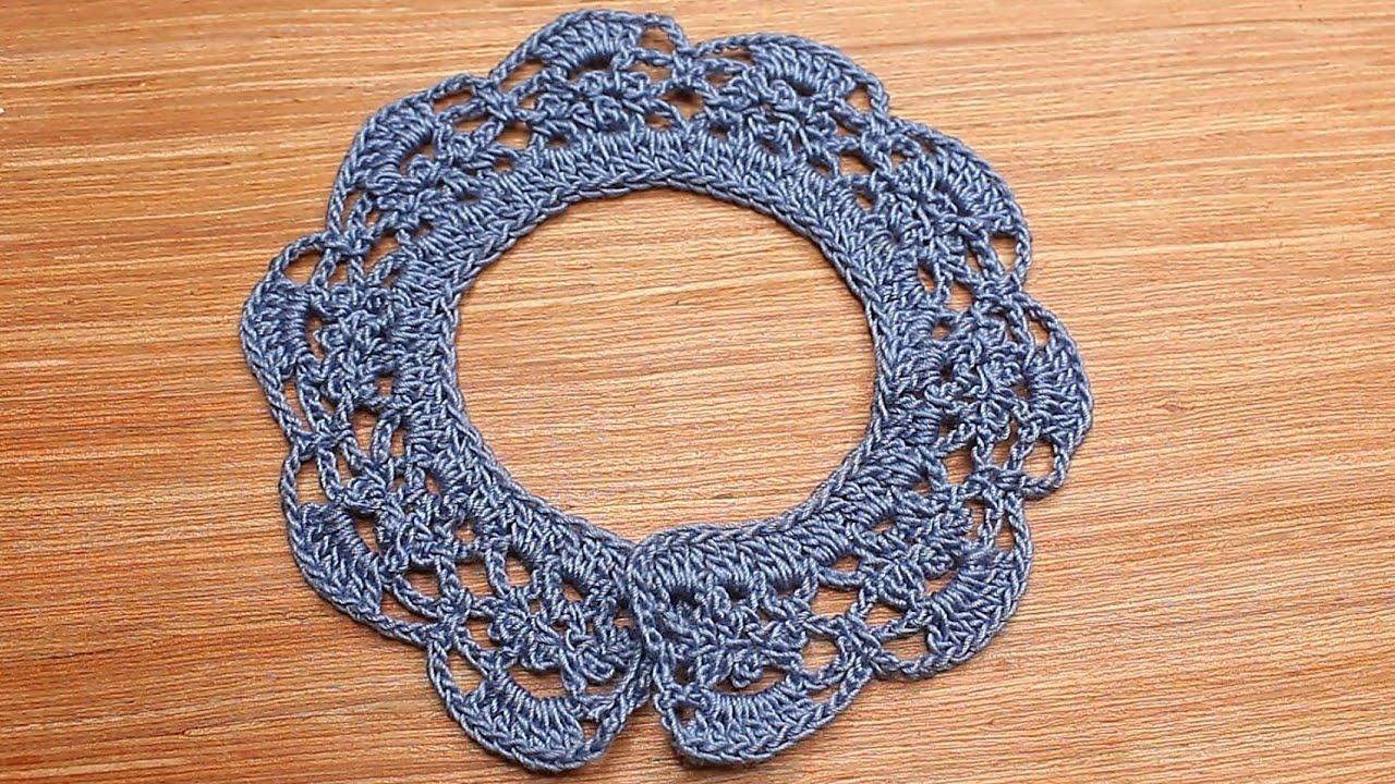 Cute crochet collar for Newborn baby,কুশিকাটার নিউবর্ন বেবির জামার গলার ডিজাইন