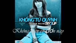 I cry- Khong Tu Quynh Lyrics