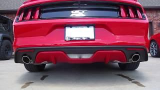 2016 Mustang Gt stock exhaust vs resonator delete