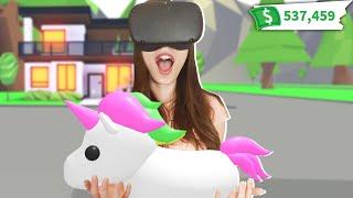 JUGAMOS ADOPT ME EN REALIDAD VIRTUAL POR PRIMERA VEZ   ROBLOX VR