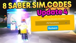 New Pets Update Codes in Roblox Saber Simulator