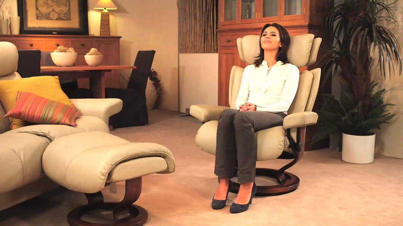 Le confort des fauteuils et canapés Stressless - YouTube