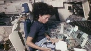 Judith Resnik - female NASA Astronaut (Judy Resnik in the Space Shuttle)