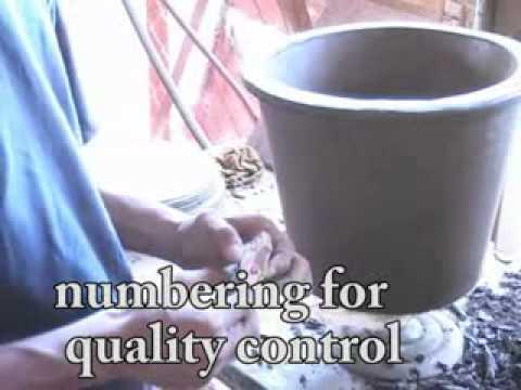 Making a ceramic filter in Nicaragua