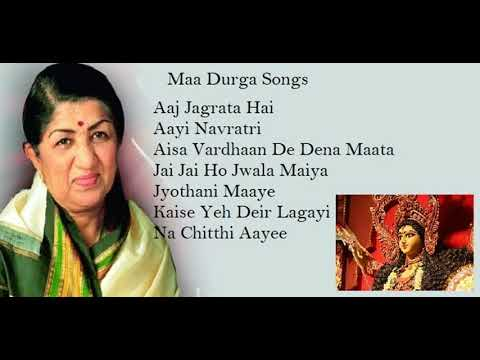 Non-Stop top 7 Durga maa songs by Lata Mangeshkar