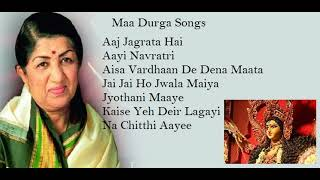 Non-Stop top 7 Durga maa songs by Lata Mangeshkar
