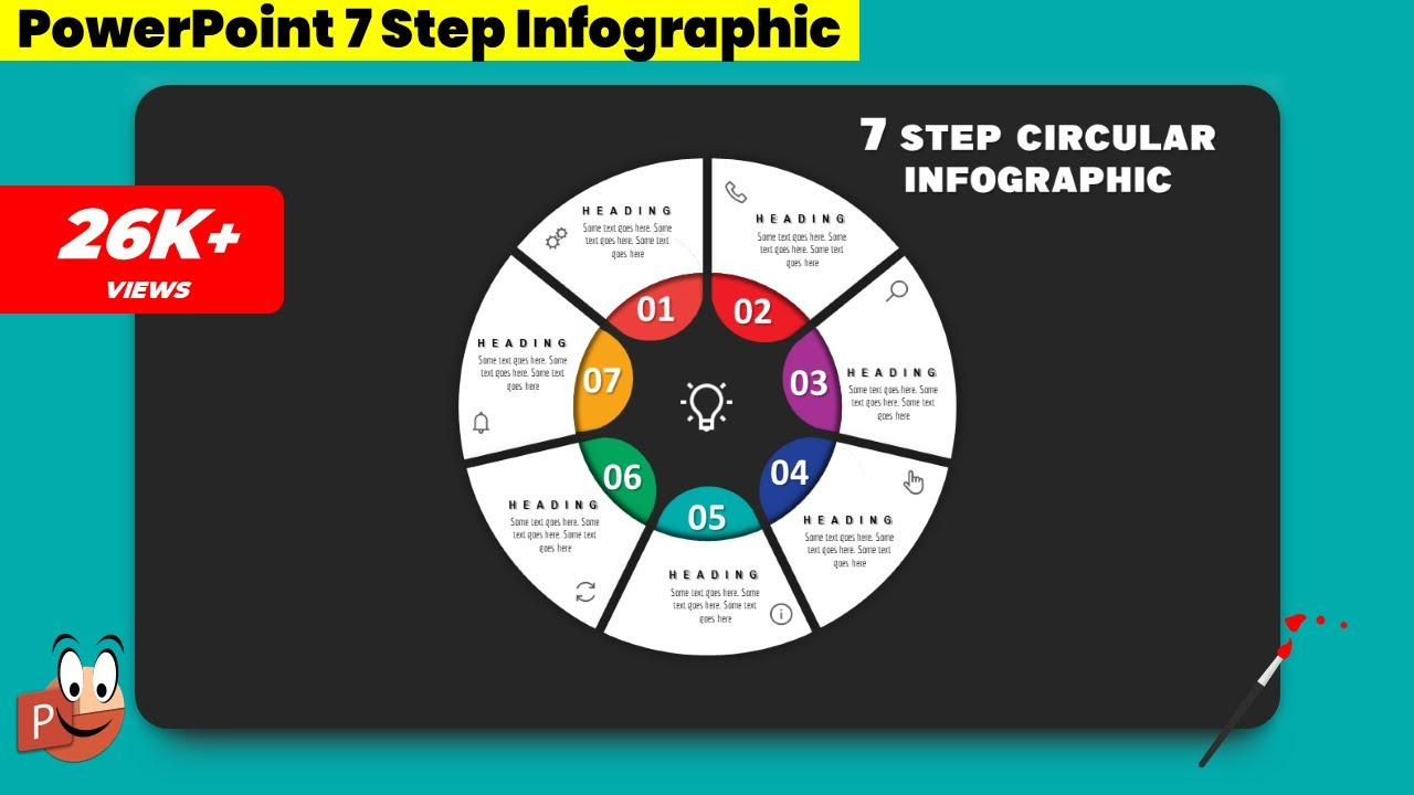 3 Create 7 Step Circular Infographic  Powerpoint Presentation  Graphic Design  Free Template