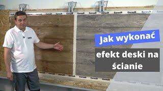 Jak wykonać efekt drewna na ścianie - KROK PO KROKU