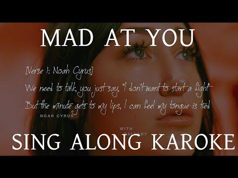 Mad at You Karaoke | Noah Cyrus, Gallant | with Lyrics Instrumental | KRS