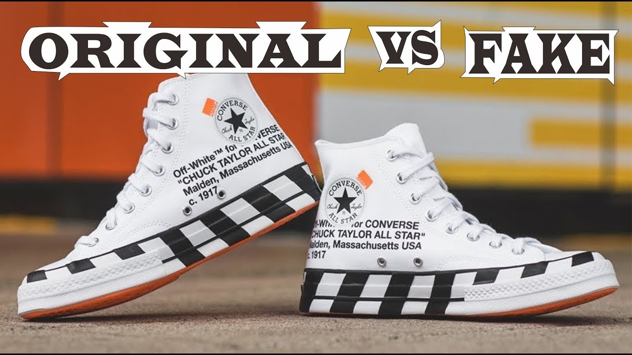 REAL VS FAKE Off White x Converse Chuck Taylor Fake Education