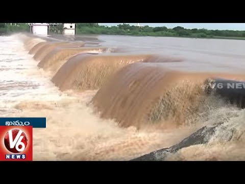 Heavy Rains In Khammam District | Reservoirs Filled With Rain Water | V6 News