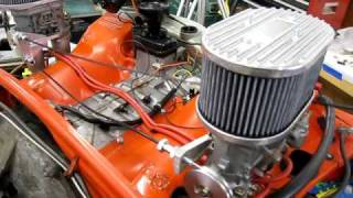 Cable actuated dual carb linkage on Porsche 914 engine