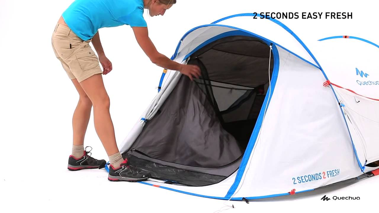 2 Seconds Easy 2 Fresh Tent 2 People - White  sc 1 st  YouTube & 2 Seconds Easy 2 Fresh Tent 2 People - White - YouTube
