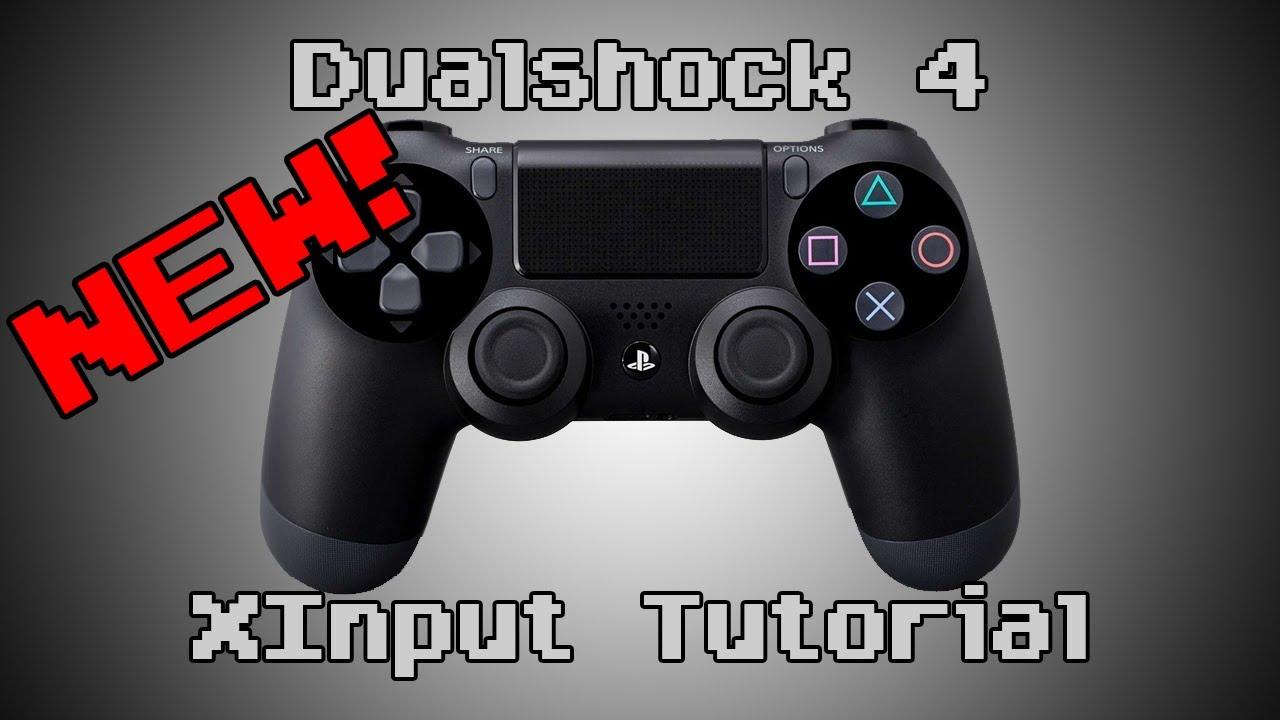 Dualshock 4 XInput Tutorial (SCPServer)