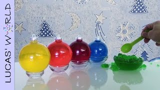 Jello recipes Christmas Ornaments DIY kids video How to Make Christmas Decorations Lucas World