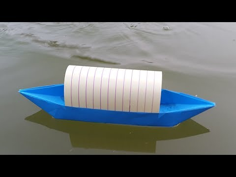 How to make a Paper Boat that Floats on Water - Origami Boat making tutorial