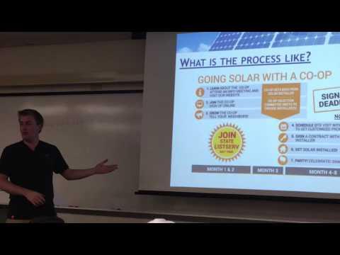 Derek Grozio on Going Solar-Central Florida Solar Co-Op at Valencia College